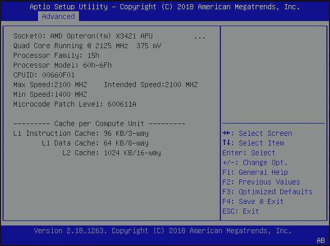 HPE ProLiant MicroServer Gen10 X3421 CPU BIOS