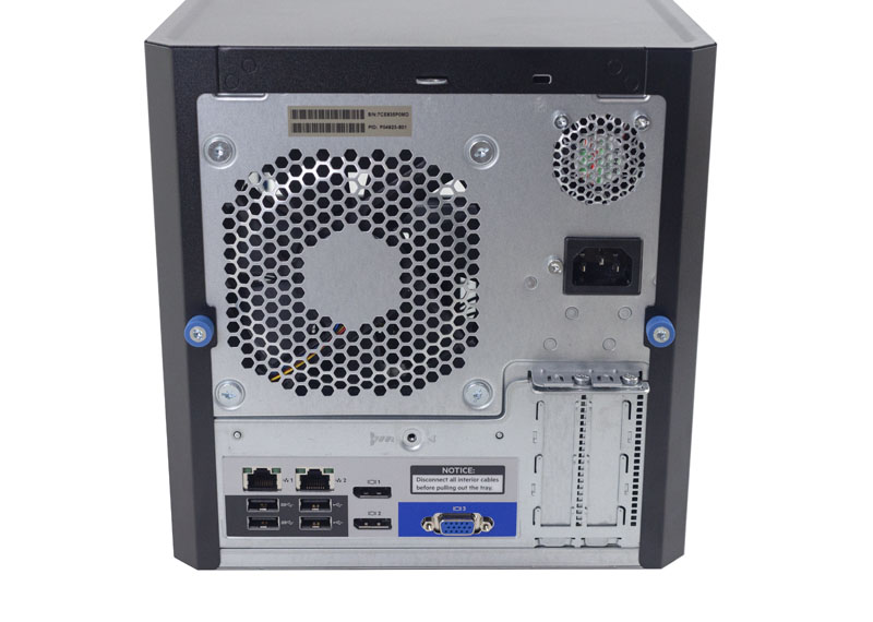 HPE ProLiant Microserver Gen10 Rear