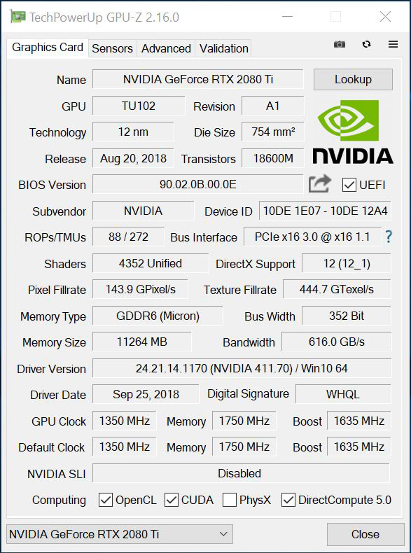 NVIDIA GeForce RTX 2080 Ti Graphics Card Review - Page 2 of