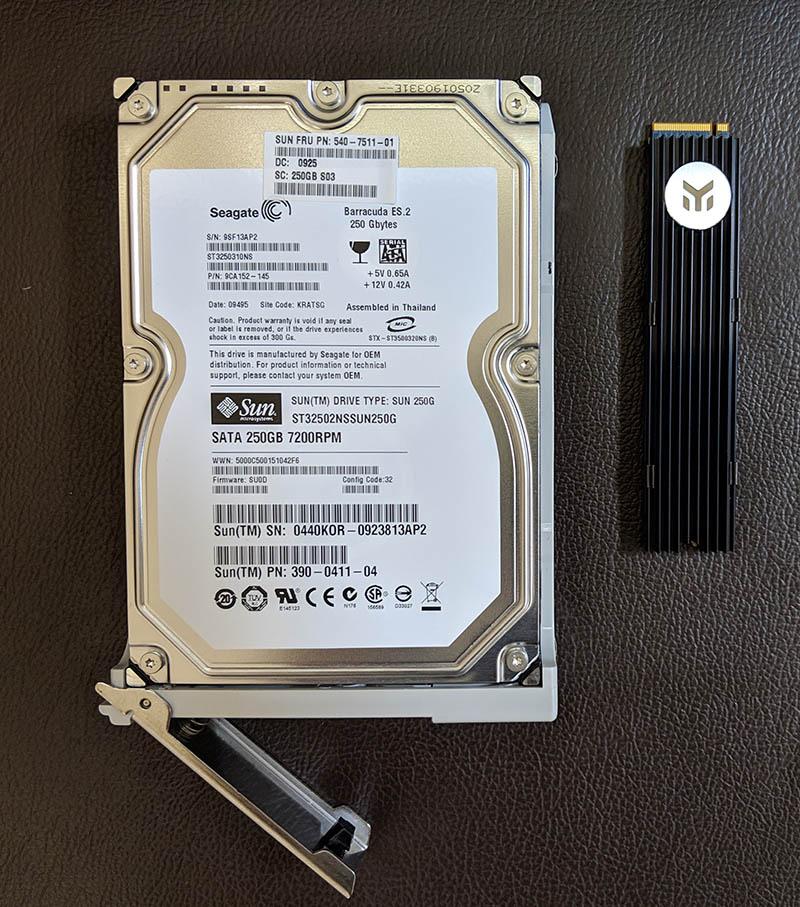 Sun Ultra 24 250GB Hard Drive V Intel Optane M2