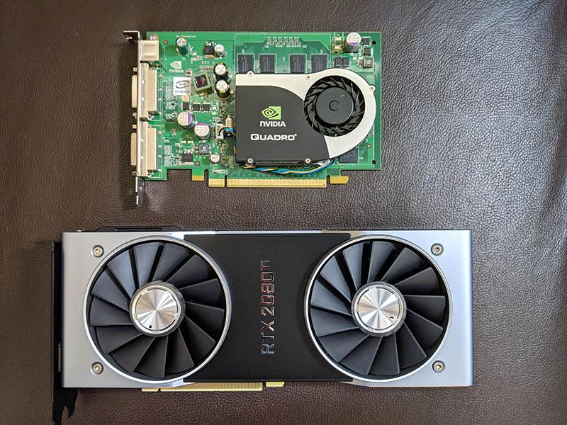 Sun Ultra 24 NVIDIA Quadro FX 1700 V RTX 2080 Ti