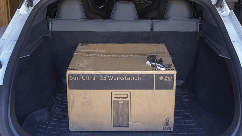 Sun Ultra 24 Original Packaging In Trunk