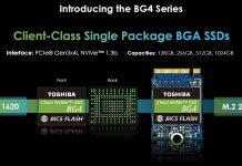 Toshiba BG4 Series BGA NVMe SSD