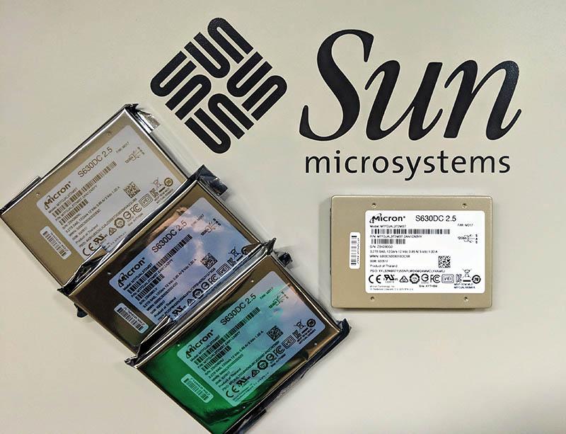 Ultra EPYC Micron 3.2TB SSDs On Sun Logo