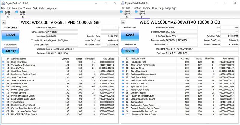 WD 10TB White CrystalDiskInfo