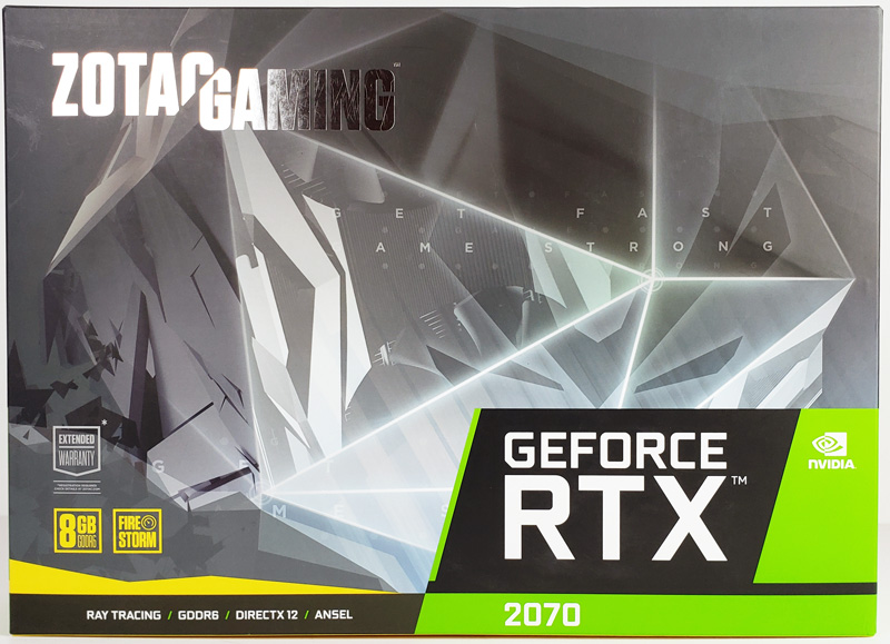 ZOTAC RTX2070 Blower Retail Box Front