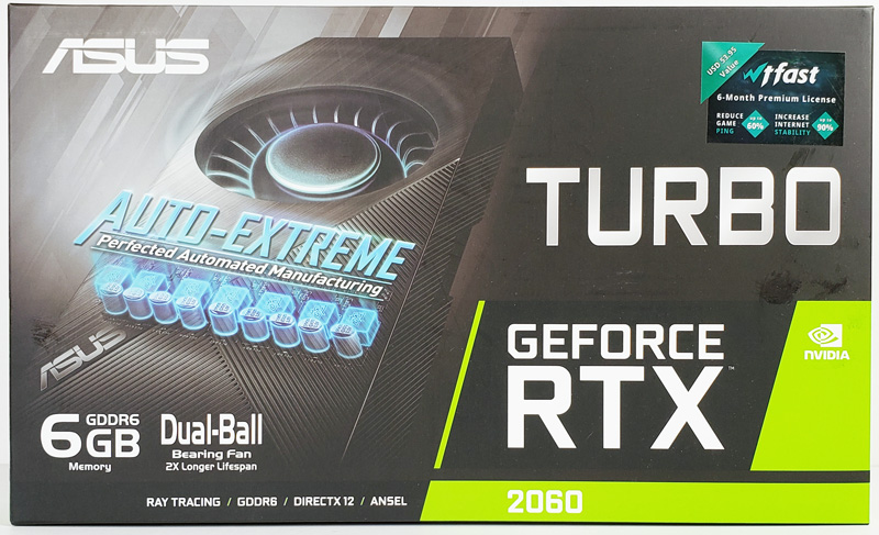 ASUS Turbo RTX2060 6G Retail Box Front