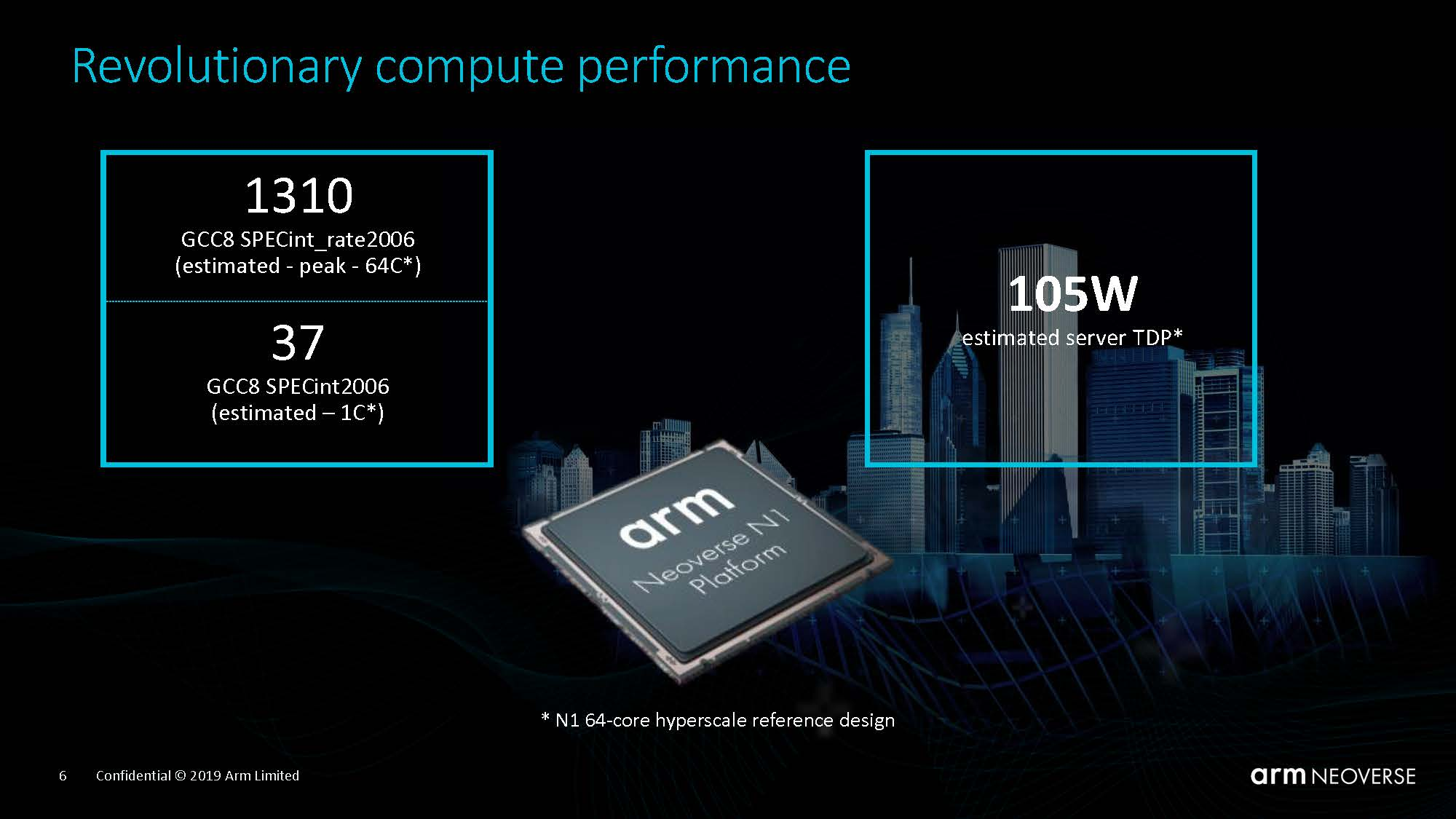 Arm Neoverse N1 Tech Day Compute Performance Gain 1