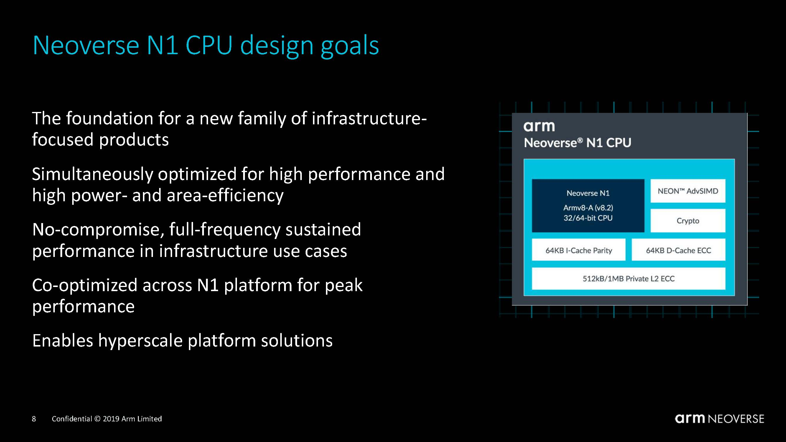 Arm Neoverse N1 Tech Day N1 Design Goals