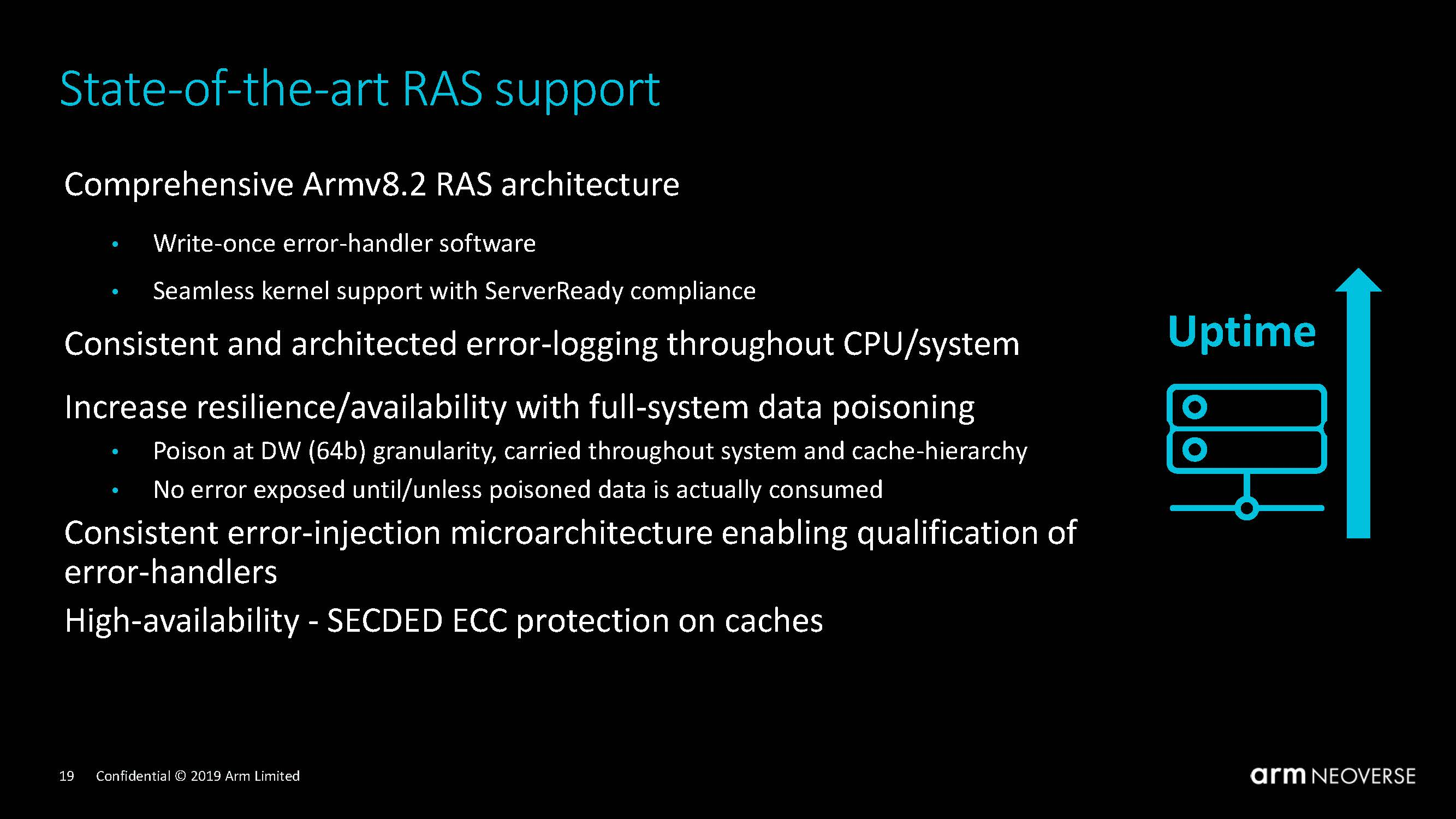Arm Neoverse N1 Tech Day RAS Support