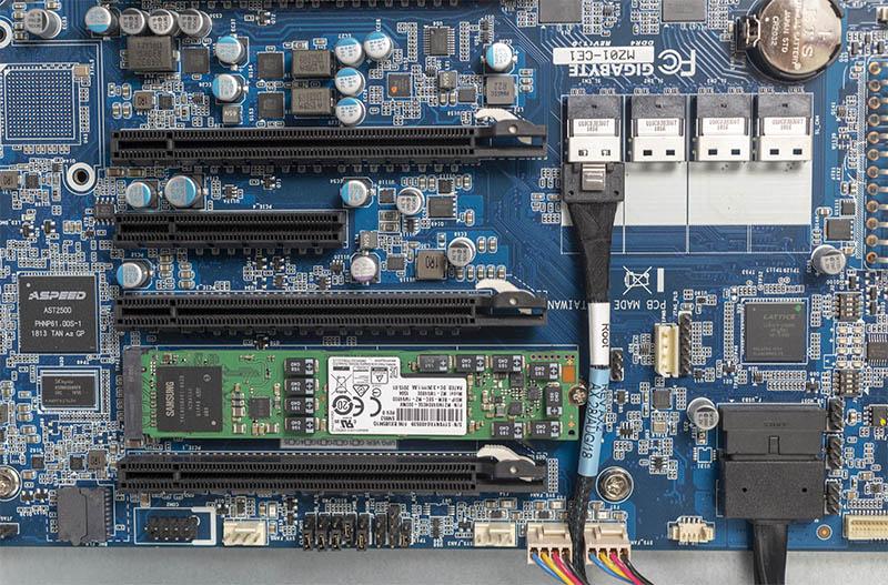 Gigabyte MZ01 CE1 NVMe Installed