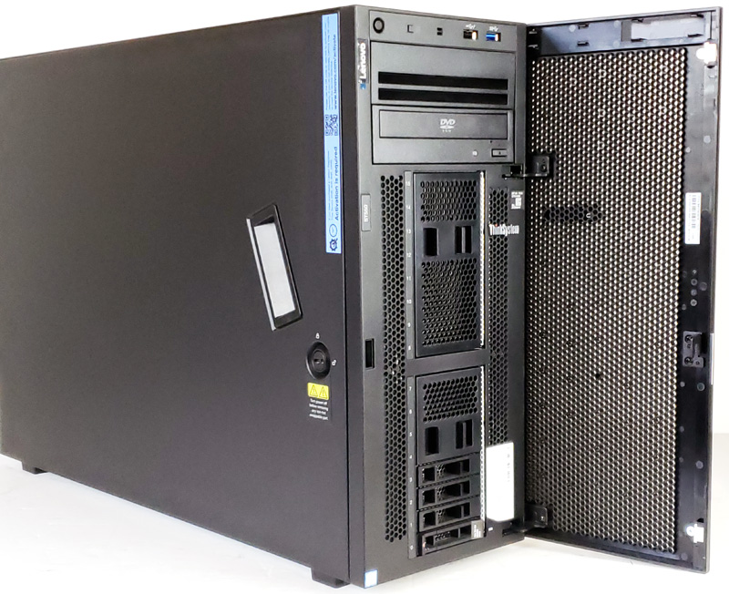 Lenovo ThinkSystem ST550 Tower Front Door Open