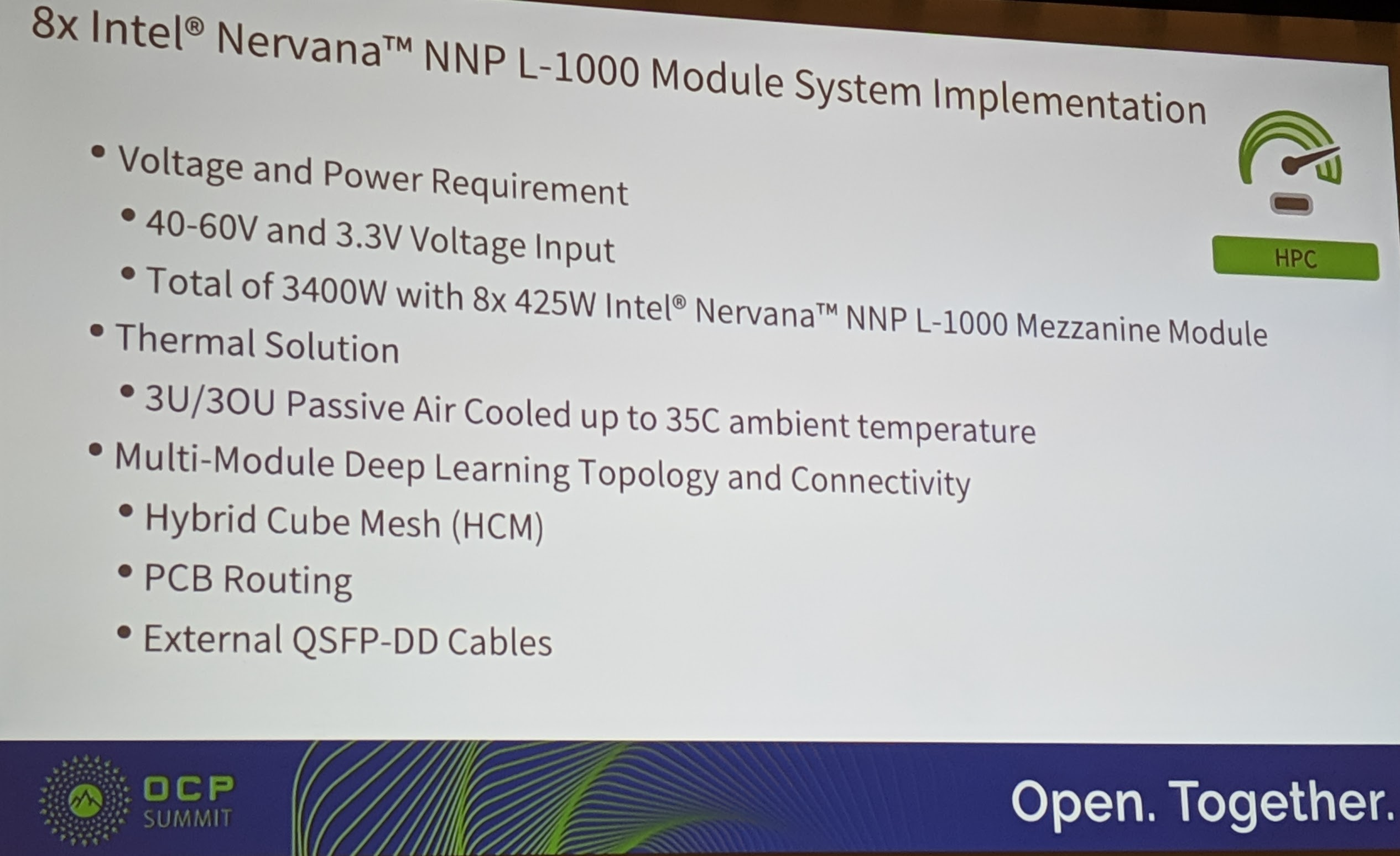 8x Intel Nervana NNP L 1000 System Implementation