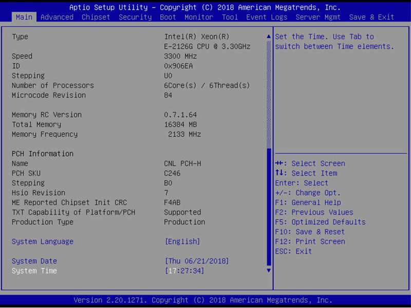 ASUS WS C246M Pro Motherboard BIOS
