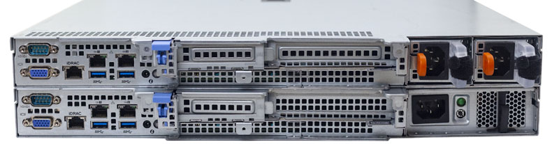Dell EMC PowerEdge R340 Top R240 Bottom Rear IO Comparison