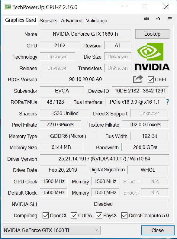 EVGA GeForce GTX 1660 Ti XC Black Review Powerful and Small GPU