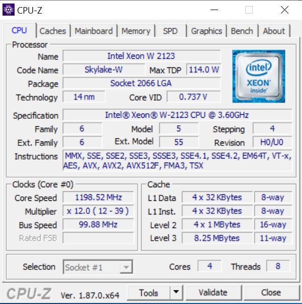 Fujitsu D3598 B13 CPUz