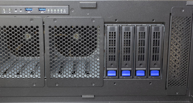 Gigabyte W291 Z00 Drive Bays And Air Vents