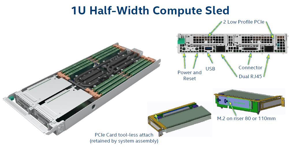 Intel Server System 9200WK 1U Half Width Sled