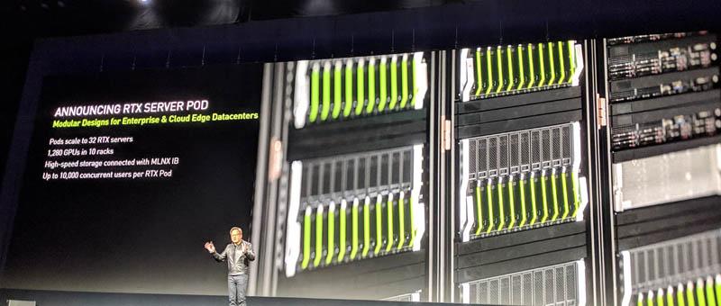 NVIDIA RTX Server Pod 32x RTX Servers 1280 GPUs In 10 Racks