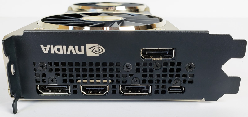 Nvidia Titan RTX IO Ports