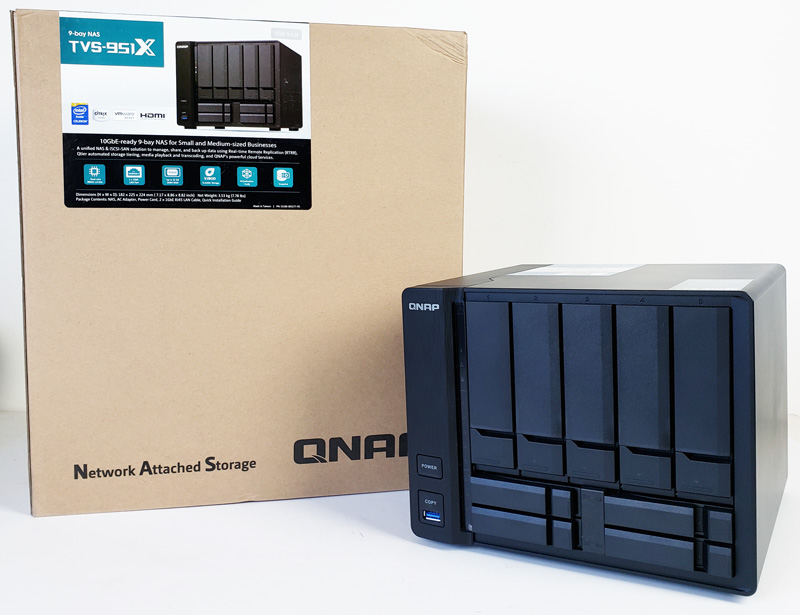 QNAP TVS-951X 9-Bay NAS for SMB Edge and Content Creators -