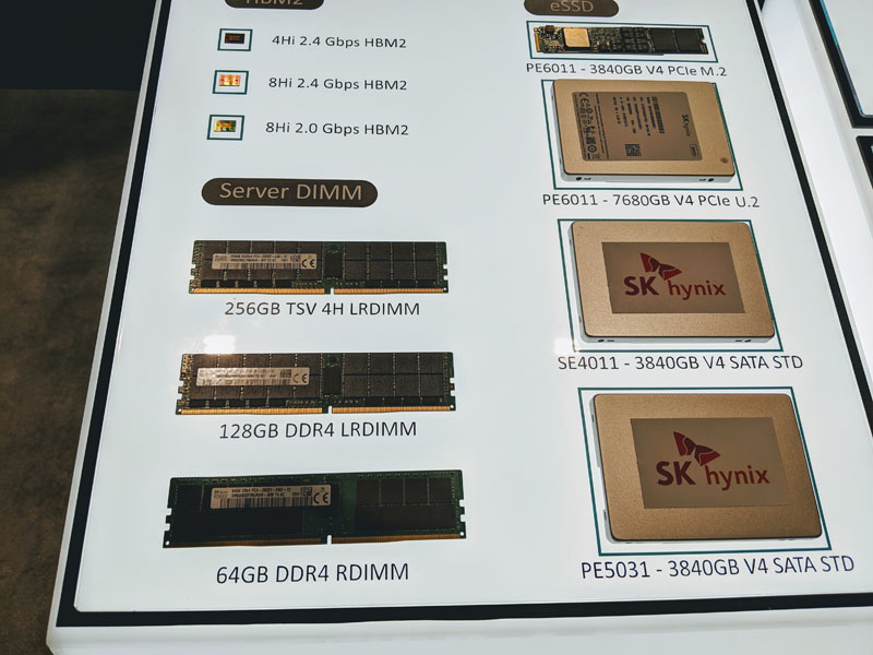 SK Hynix 256GB DDR4 LRDIMM HBM2 SSD