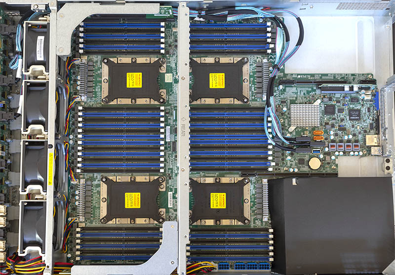 Supermicro SYS 2049U TR4 Top Without Rear Risers
