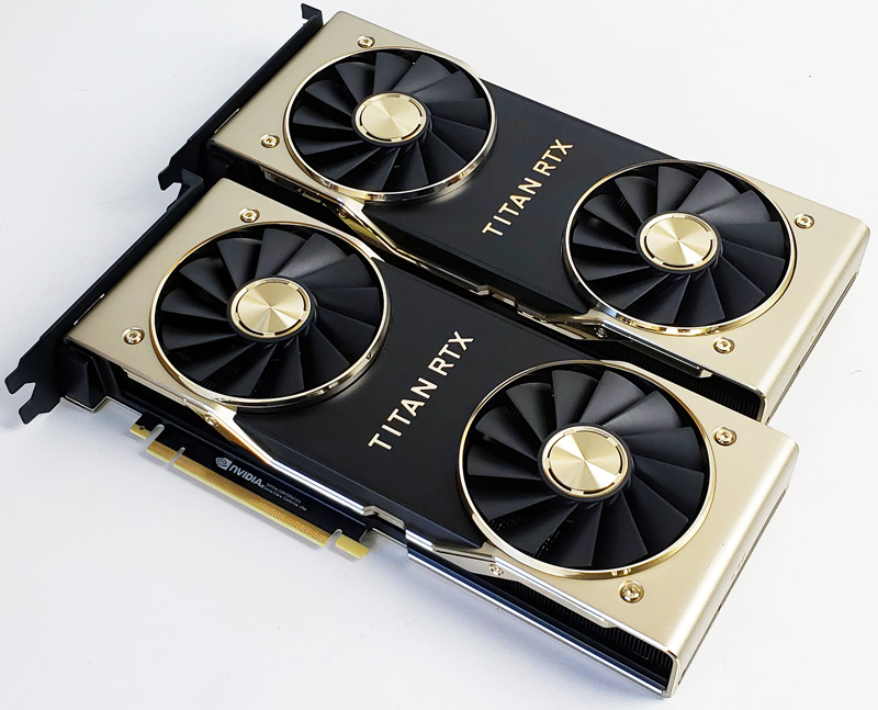 Dual NVIDIA Titan RTX Review Compute with NVLink Performance - STH