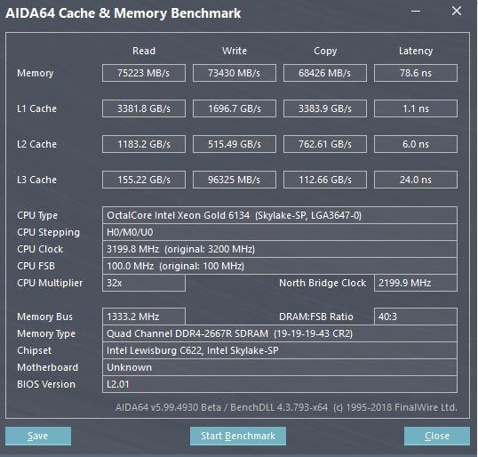 ASRock Rack EPC621D4I 2M AIDA64 Memory