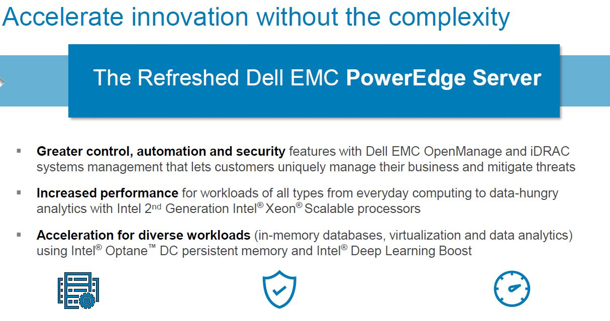New Dell EMC PowerEdge Features and 2nd Gen Intel Xeon