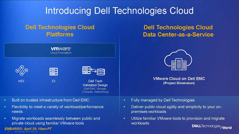 Dell Technologies World 2019 Cloud Platform 2