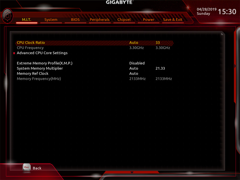 Gigabyte X299 AORUS Master BIOS 3