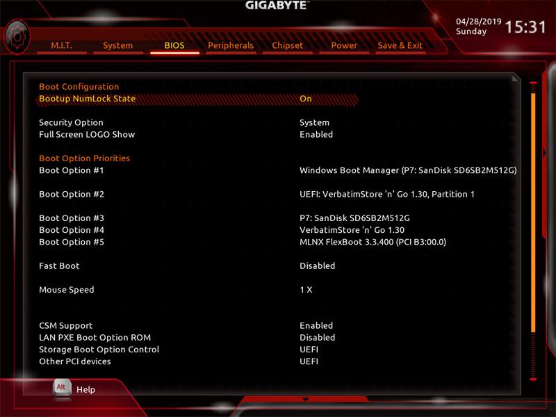 Gigabyte X299 AORUS Master BIOS 4