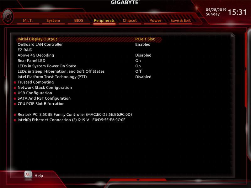 Gigabyte X299 AORUS Master BIOS 5