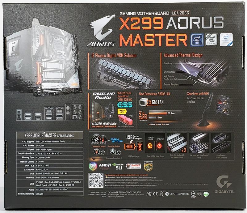 Gigabyte X299 AORUS Master Box Back