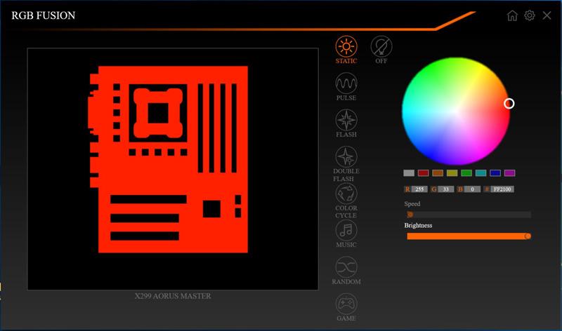Gigabyte X299 AORUS Master RGB Fision