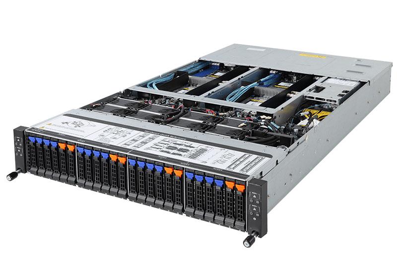 Gigabyte H261-Z61 Server Review 2U4N AMD EPYC with NVMe - STH