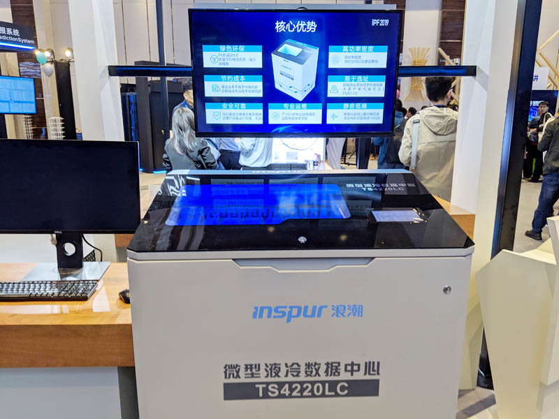 Inspur TS4220LC Immersion Cooling At IPF 2019