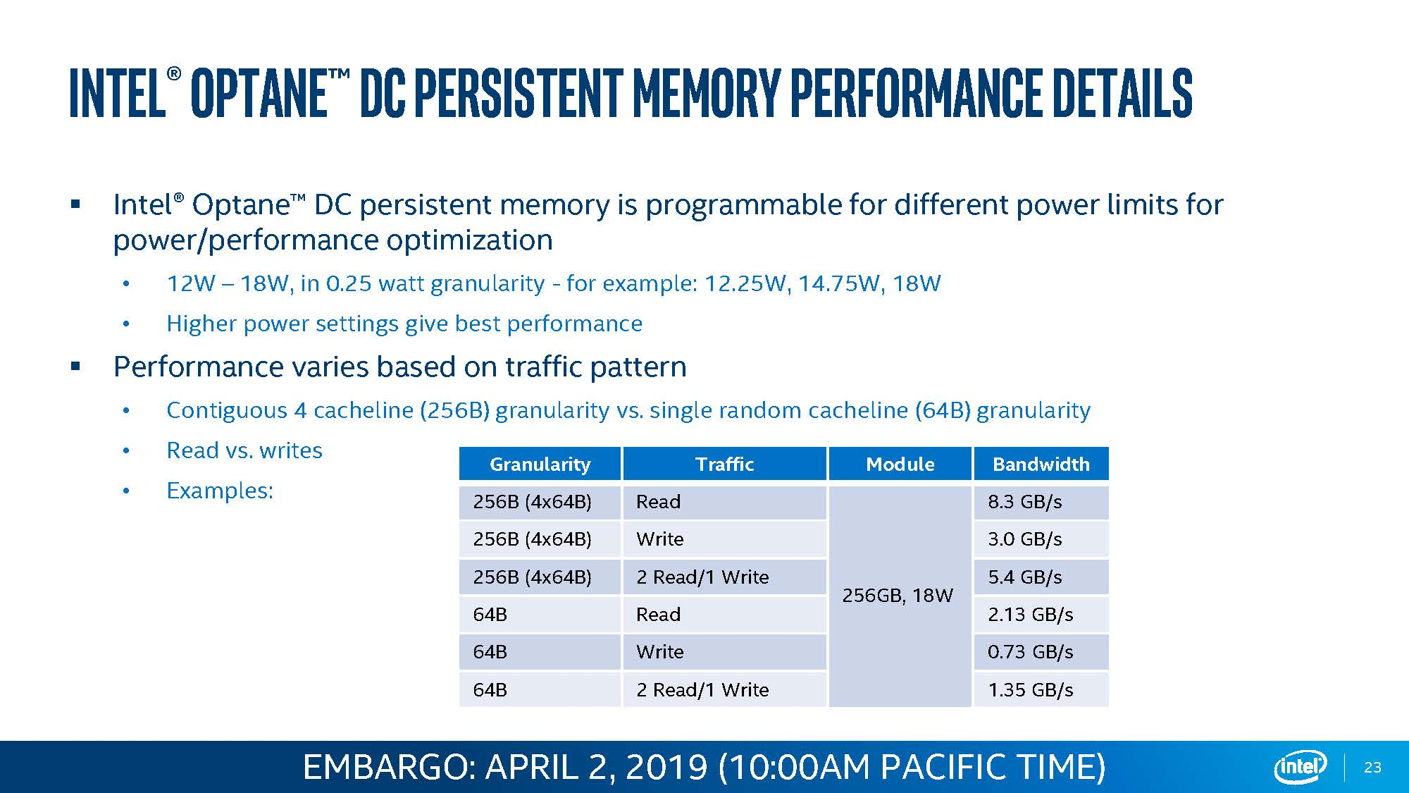 Intel Optane DCPMM Performance 1