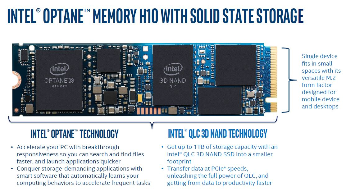 Intel Optane Memory H10 With QLC NAND Storage
