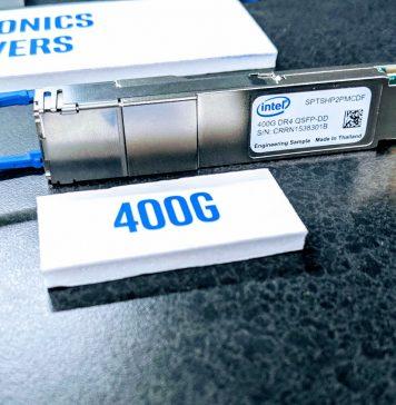 Intel Silicon Photonics 400G QSFP DD