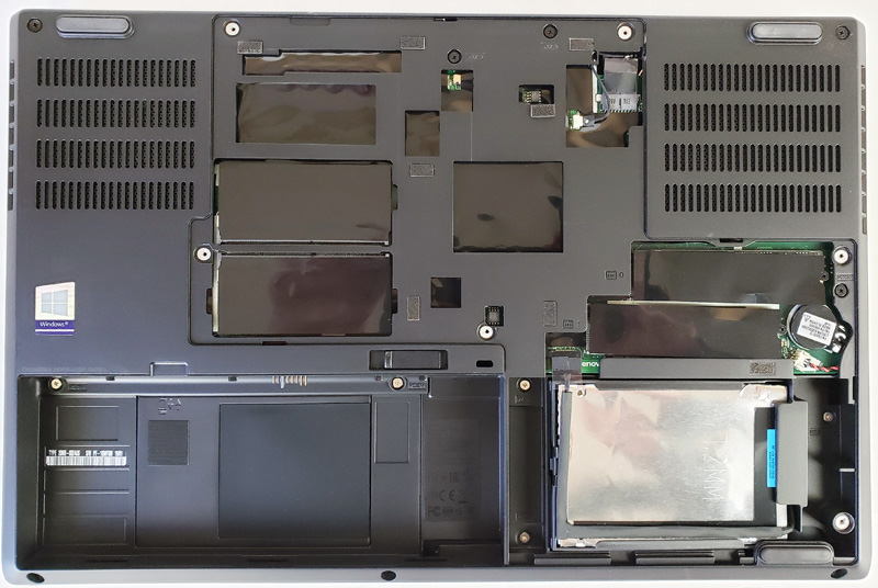 Lenovo ThinkPad P52 Expansion Bays