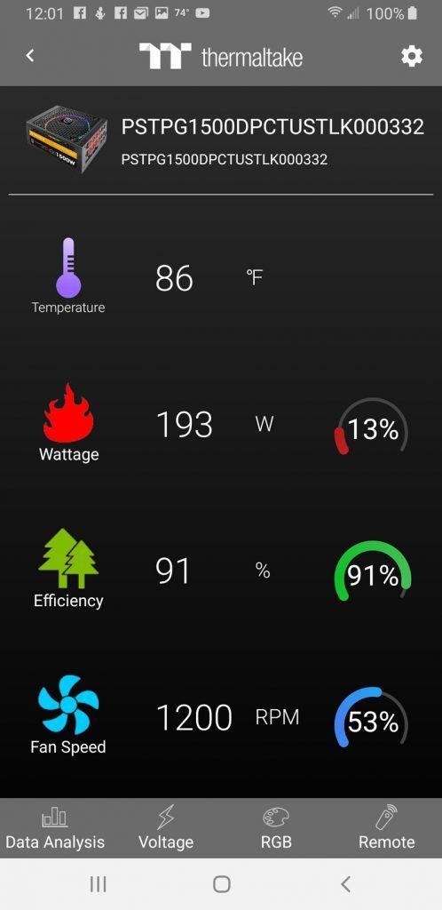 Thermaltake Toughpower DPS Phone App