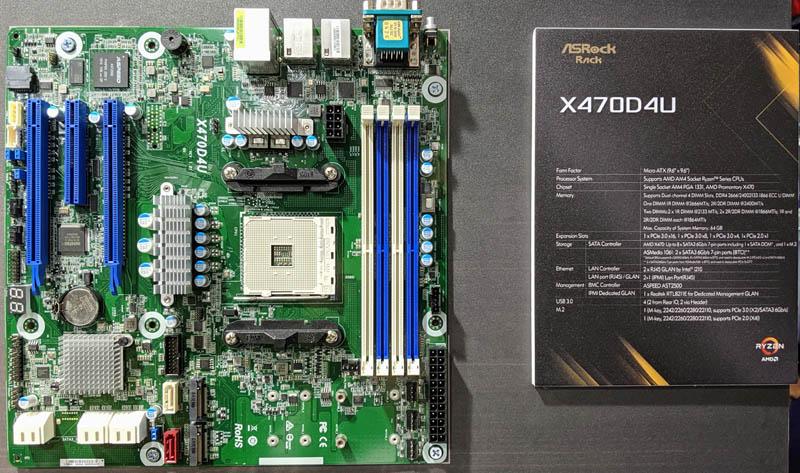 ASRock Rack 1U2LW X470 Top Computex 2019