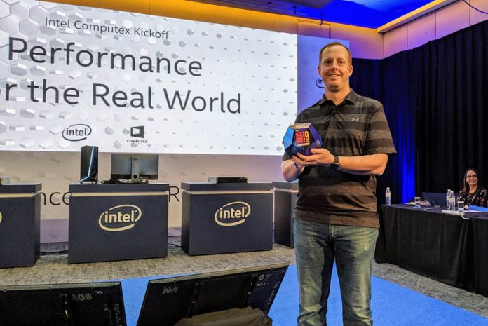 Computex 2019 Intel Core I9 9900KS Package With Ryan Shrout