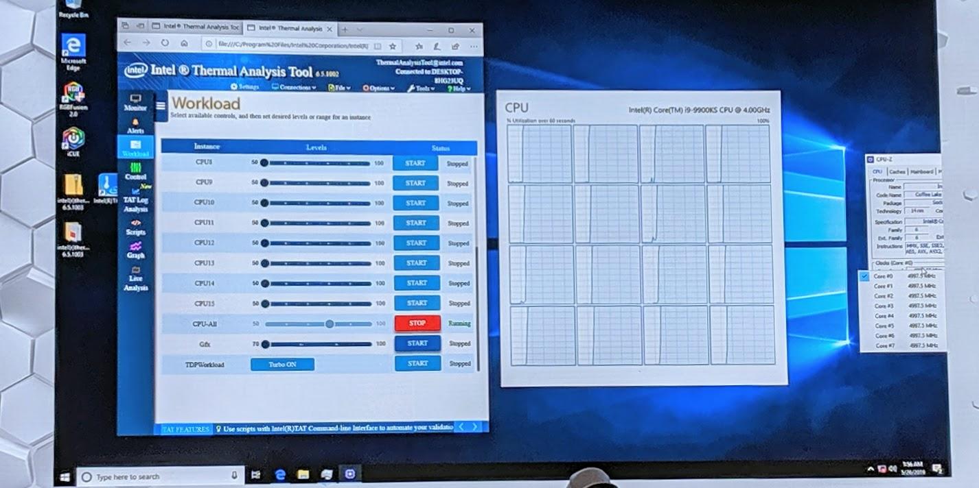 Computex 2019 Intel Core I9 9900KS Running Demo