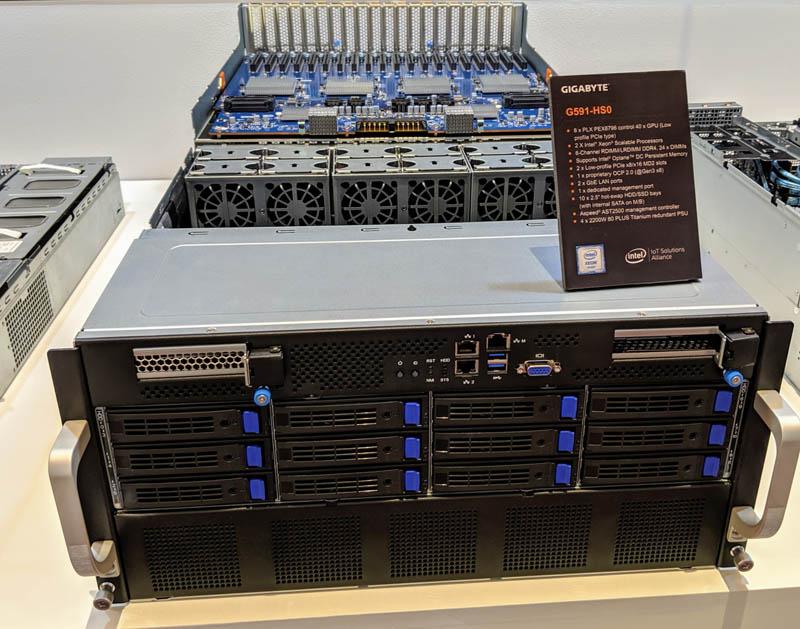 Gigabyte G591 HS0 40x GPU 5U Computex 2019