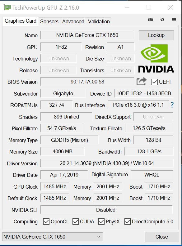 Gigabyte GeForce GTX 1650 OC Entry GPU Review - Page 2 of 6