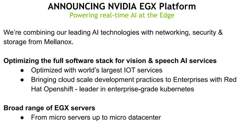 NVIDIA EGX Platform 1
